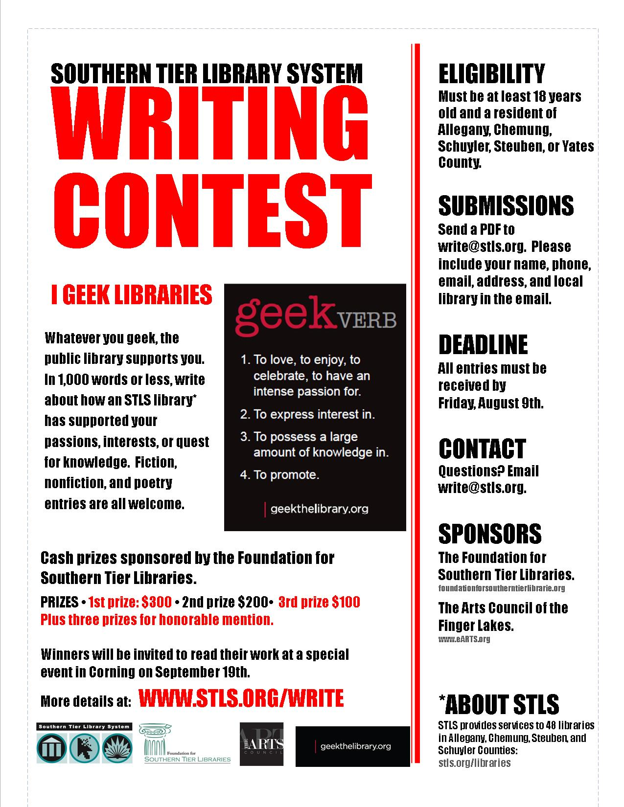 creative writing contest 2013 Writingcom is the online community for writers of all interests established in 2000, our community breeds writing, writers and poetry through creative writing help.